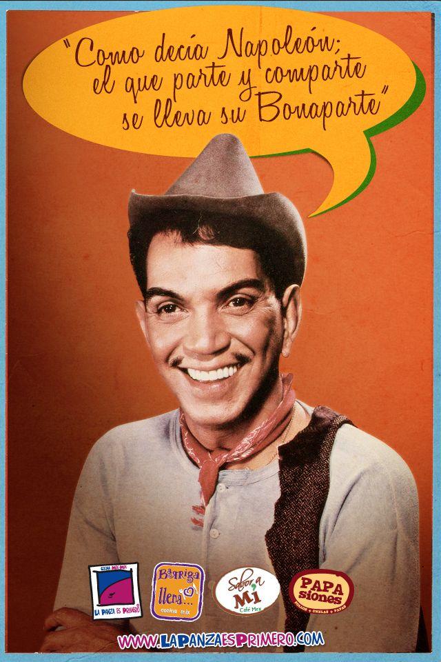 """Mario Fortino Alfonso Moreno Reyes """"Cantinflas"""" (Ciudad de México, México, 12 de agosto de 1911 – Ciudad de México, 20 de abril de 1993) fue un actor y comediante mexicano, ganador del Globo de Oro en 1956."""