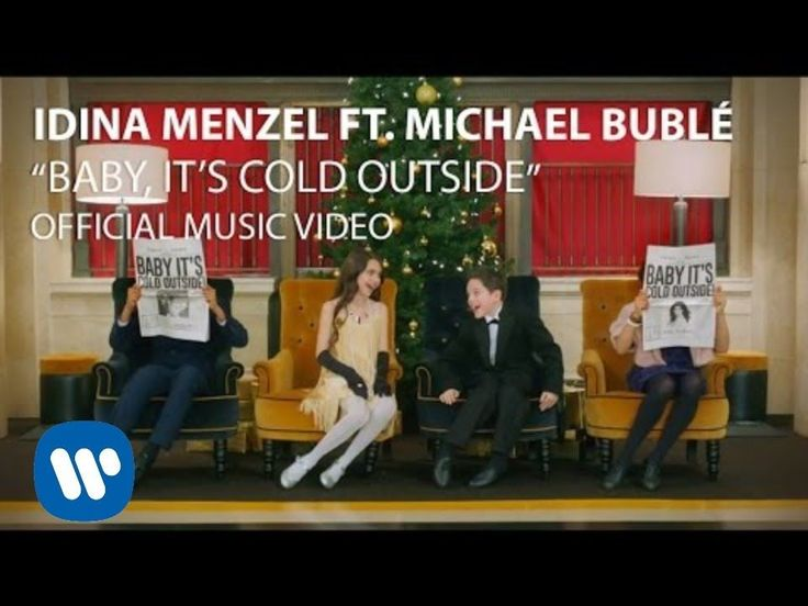 Idina Menzel & Michael Bublé - Baby It's Cold Outside - Two of my favorite singers doing my favorite holiday song. I'm in heaven!