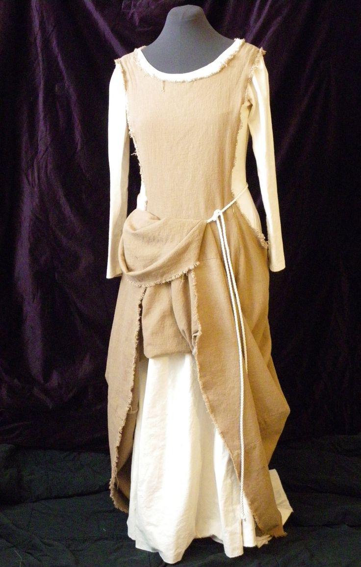 Medieval Peasant Kirtle and Surcote Ensemble - Made to Order. $150.00, via Etsy.