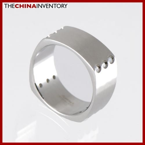 9MM SIZE 5.5 STAINLESS STEEL SQUARE BAND RING R1213