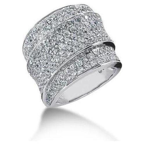 3.00ctw diamond pave style wide wedding band 14k gold
