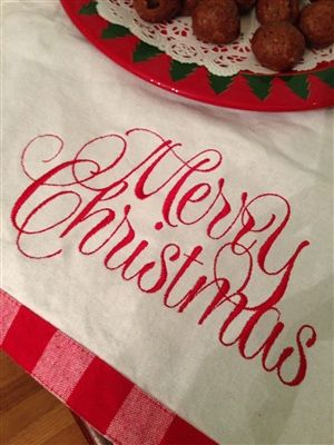 Cheerful Embroidery Font from Hang to Dry Applique
