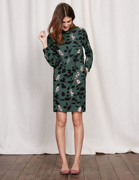 High Neck Dress WW101 Printed Dresses at Boden