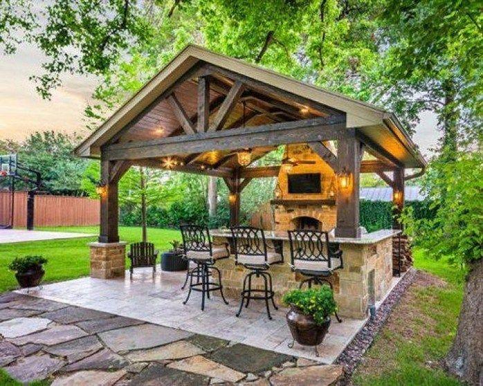 35 Gorgeous Patio Design Ideas For Outdoor Kitchen 21 Texasls Org Backyard Gazebo Backyard Pavilion Outdoor Patio Designs