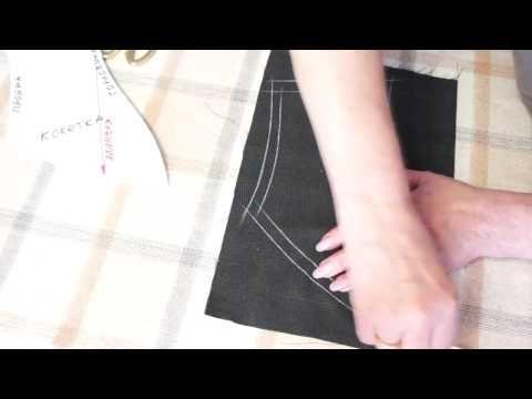 Перевод линий на нижний слой ткани по методу Светланы Поярковой - YouTube