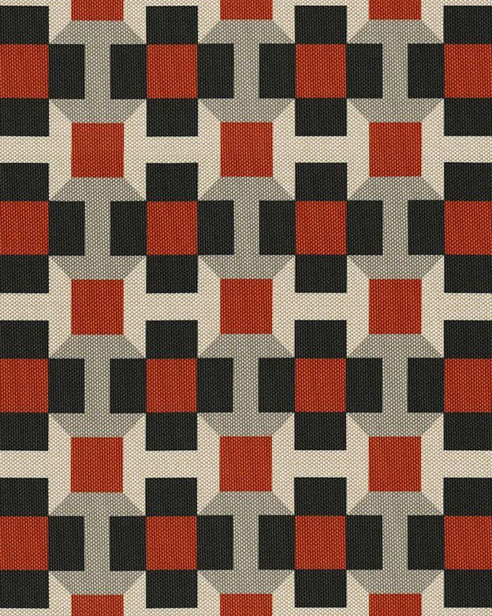 Tissus geometriques Tissu outdoor Pavage (Hermès) 7   AD Magazine