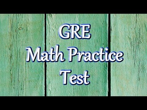 GRE Math Practice Questions - YouTube