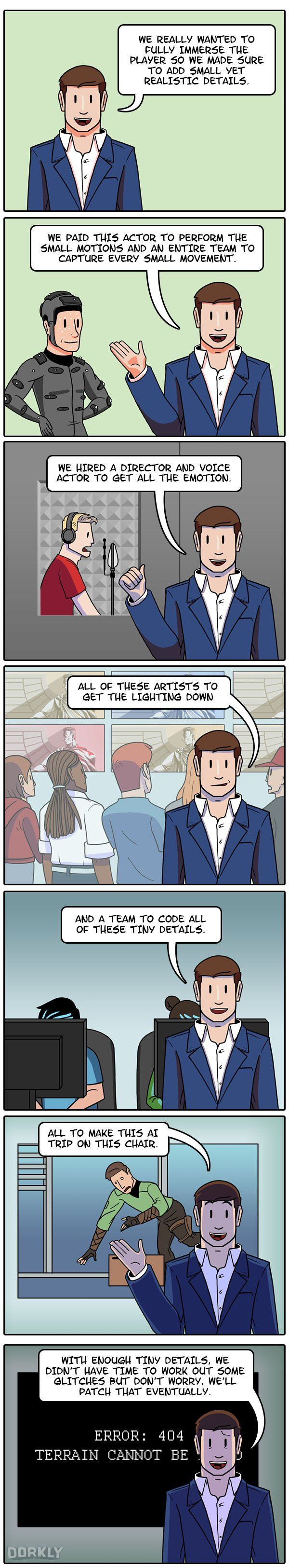 How Most Modern Games Are Made #dorkly #comics