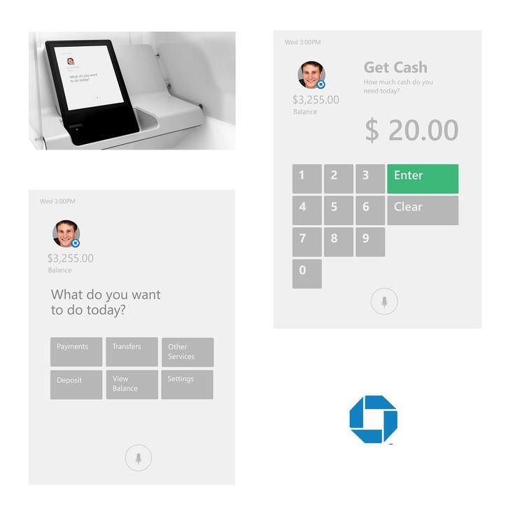 Chase Bank ATM UX/UI Design by Dedric Reid