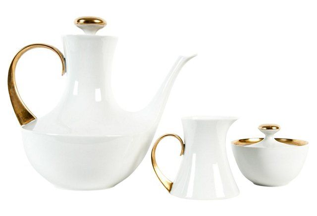 Midcentury Tea & Coffee Set, 3-Pcs