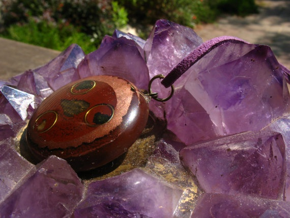orgonite energy pendant by Orgoknights on Etsy, $25.00