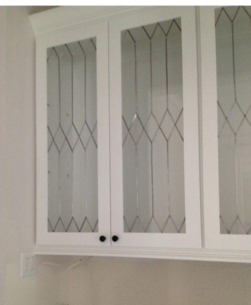 Faux Leaded Glass Creative W Windows Kitchen Glass Cabinet