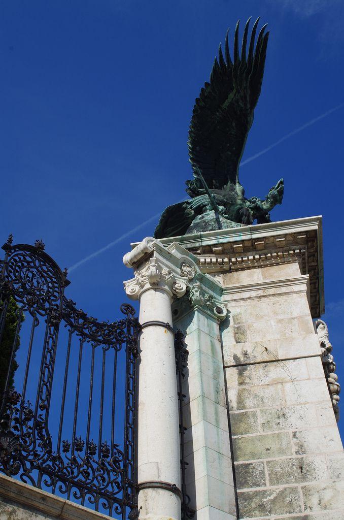 Turul bird, a mythical figure.