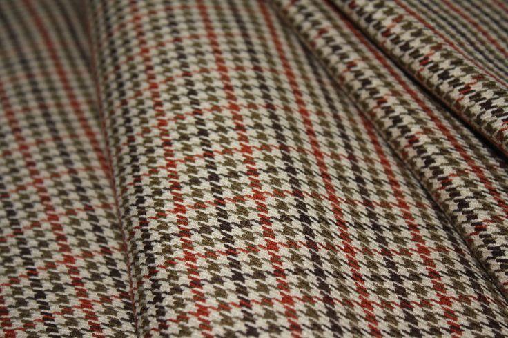 tissu laine tweed pied de poule marron beige kaki rouille, 50cm laize 120cm : Tissus Habillement, Déco par lesgriffesduchaton