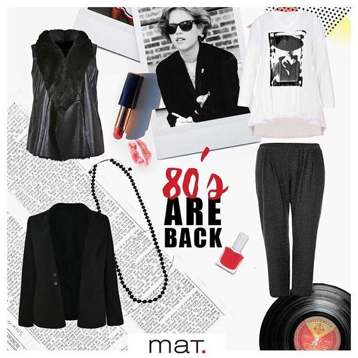 Η επιστροφή στα 80'ς μας έχει συνεπάρει και αποτελεί έμπνευση για το καθημερινό μας στυλ! Συνδύασε τα #matfashion κομμάτια μας, πρόσθεσε μία κόκκινη πινελιά και είσαι έτοιμη! • faux-fur γιλέκο • μαύρο chic blazer • μπλούζα με retro-inspired • σαλβάρι με ασημί lurex υφή • κολιέ από μαύρες χάντρες #80sfashion #80s #instafashion #psblogger