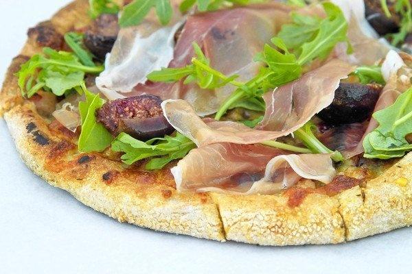 Fig & Proscuitto Flatbread  recipe via Full of Life Flatbread in Los Alamos, CA