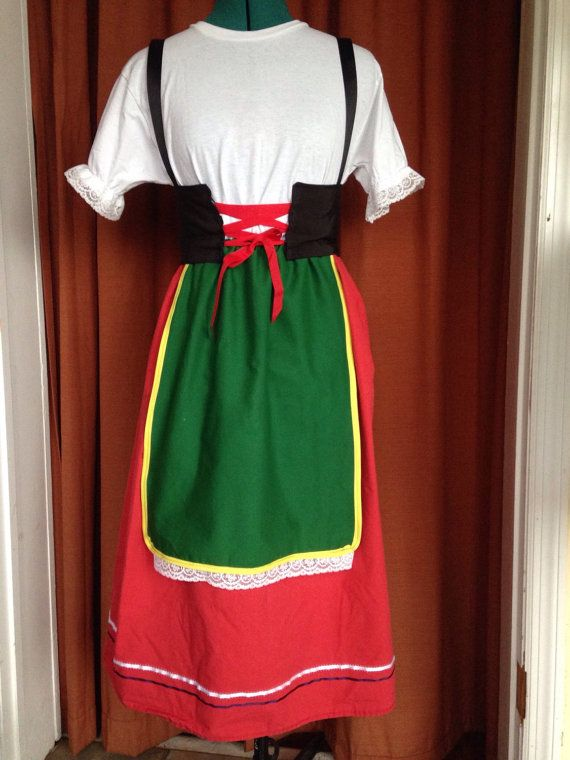 Italien National traditionnel Costume filles tailles 2 par whimsyB