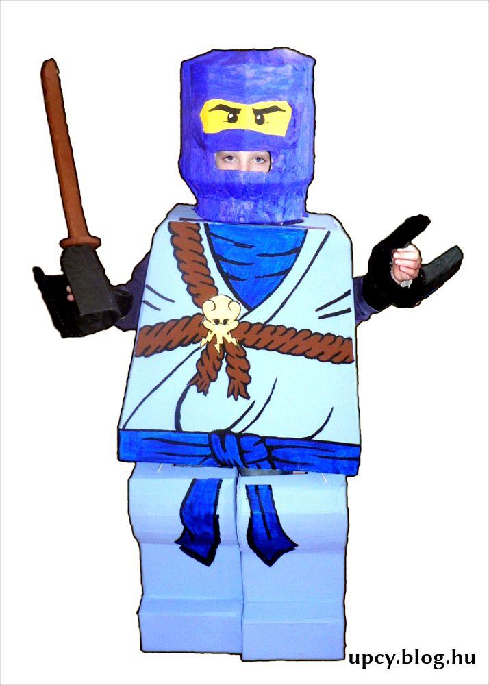 LEGO Ninjago cardboard costume.  Kartondoboz jelmez.