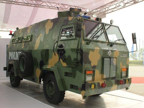 Ashok Leyland Defence Systems Unveils Stallion Kavach ATC - http://auto.indiamart.com/autoblog/ashok-leyland-defence-systems-unveils-stallion-kavach-atc.html