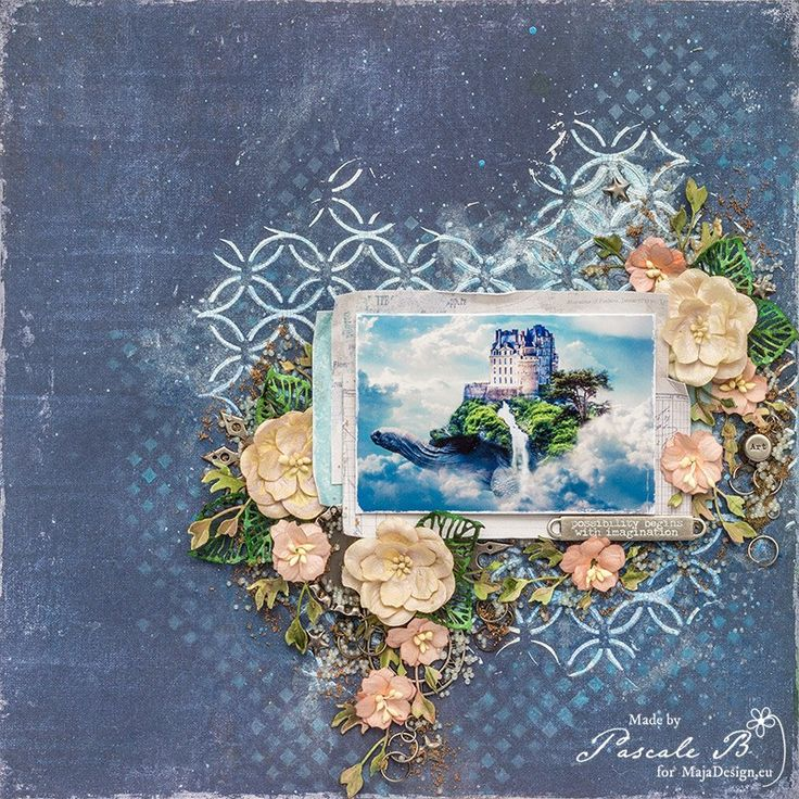 """The Brissac Tortoise"" by Pascale B. Gorgeous work, featuring MajaDesign's Denim & Friends collection.    #layout #LO #lo #scrapbooking #scrapbook #scrapping #scrap #papercraft #papercrafting #papercrafts #majadesign #majadesignpaper #majapapers #inspiration #vintage"