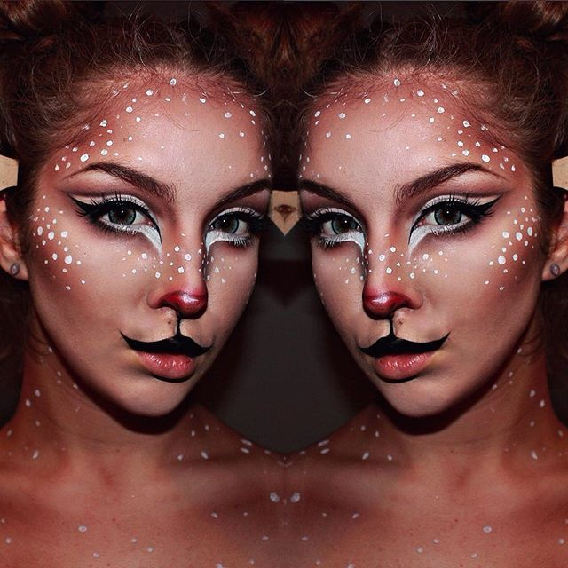 Pin for Later: Deer Makeup Halloween Costume Ideas You'll Want to Fawn Over Double deer