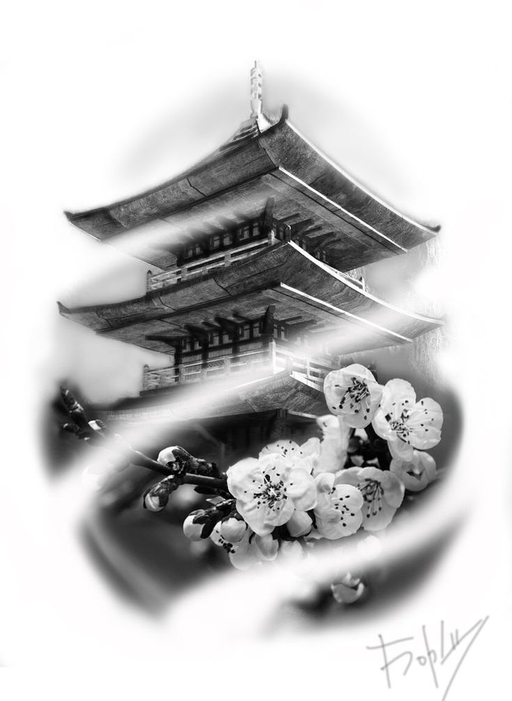 Templo - #temple #Templo | Japanische tattoos ...