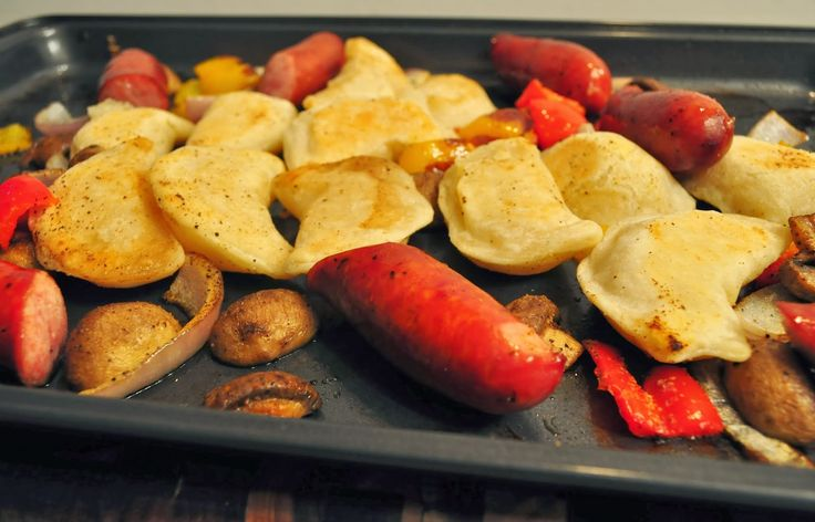 Oven Baked Perogies and Sausage