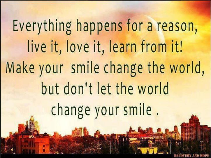 everything happens for a reason quote quotes pinterest