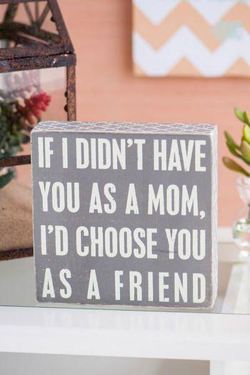 Mom Friend 7x7 Plaque
