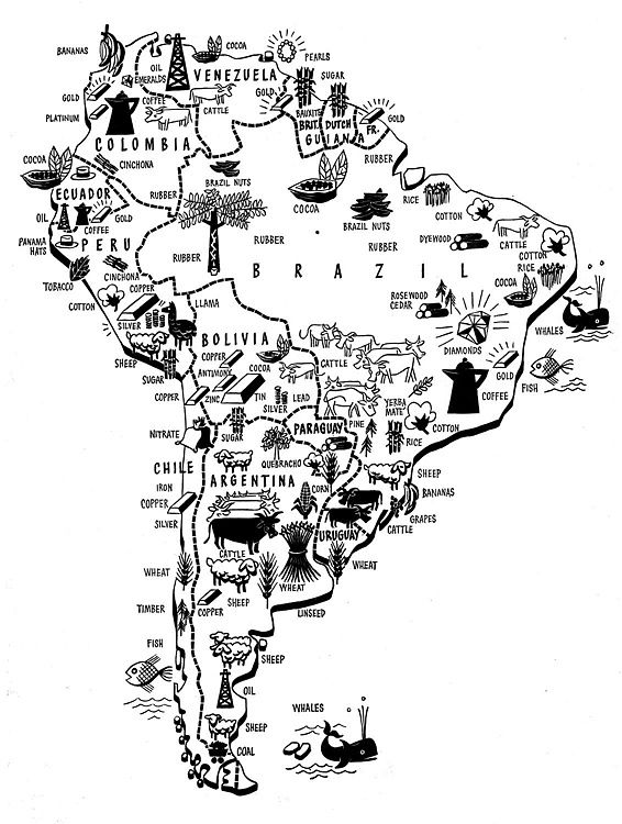 South America Product Map