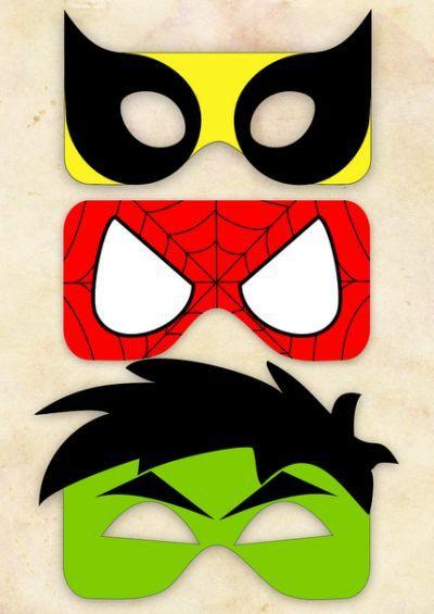 Free Printable Superhero Masks