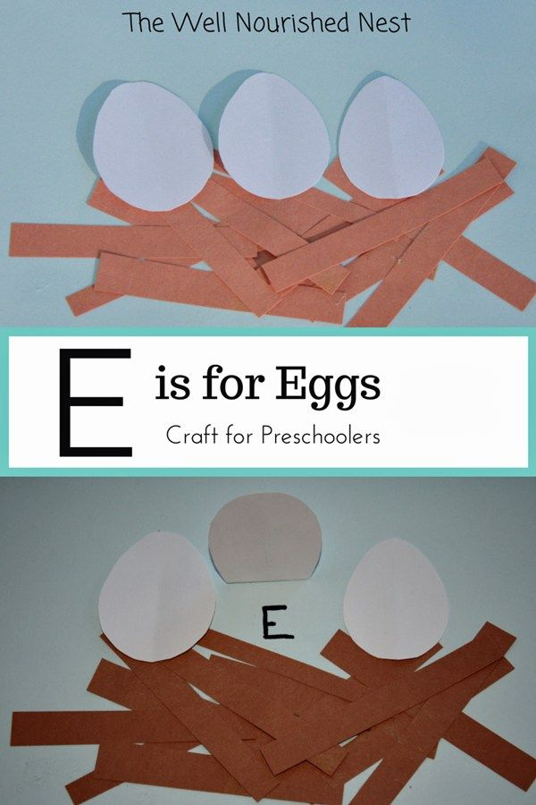 ive got another fun craft for you today in the alphabet letters series for preschoolers todays letter is e