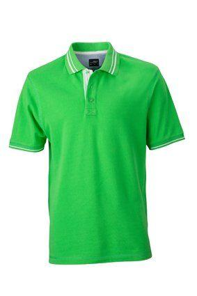 JN947 Herren Lifestyle Polohemd Poloshirt , Farbe: Grün , Gr. M