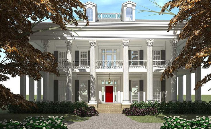 Plan 44055TD: Classic Greek Revival with Video Tour