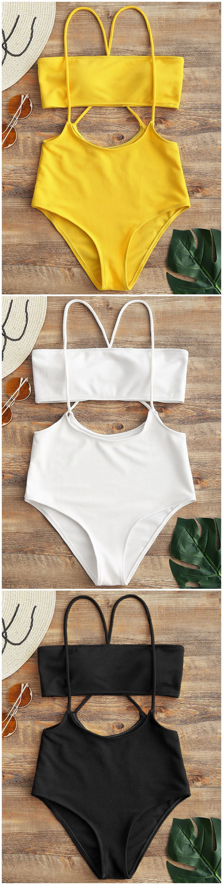 Up to 80% OFF! Bandeau Top And High Waisted Slip Bikini Bottoms. #Zaful #Swimwear #Bikinis zaful,zaful outfits,zaful dresses,spring outfits,summer dresses,Valentine's Day,valentines day ideas,cute,casual,fashion,style,bathing suit,swimsuits,one pieces,swimwear,bikini set,bikini,one piece swimwear,beach outfit,swimwear cover ups,high waisted swimsuit,tankini,high cut one piece swimsuit,high waisted swimsuit,swimwear modest,swimsuit modest,cover ups,swimsuit cover up @zaful Extra 10% OFF Code:ZF20