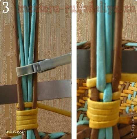 Мастер-класс по плетению из газет: Плетение ручки