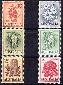 1959 Australian Native Flower Set of 6
