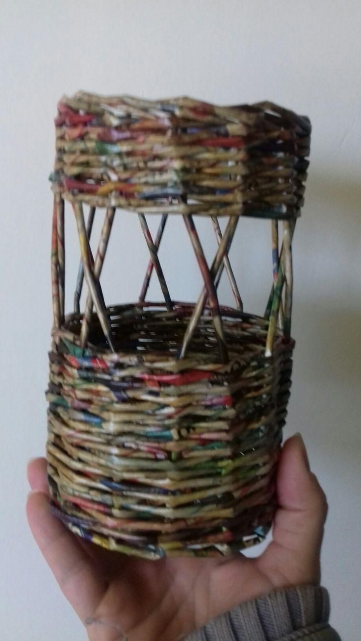 Bortartó, papírfonás, dió színű falazúrral lekenve