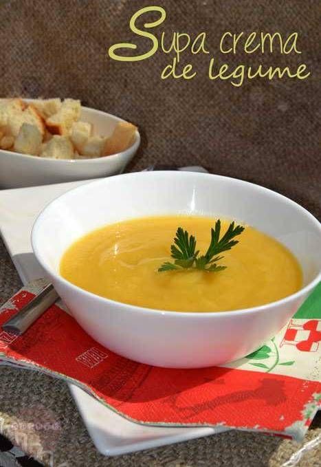 Supa crema de legume - RETETE DUKAN