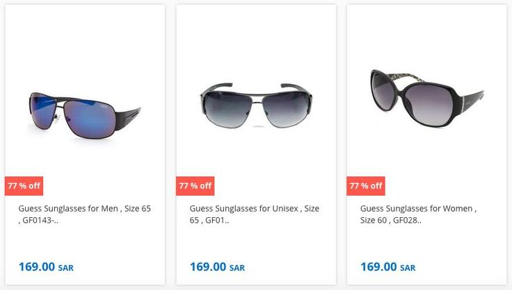 New Offers and Deals: 70% Off GUESS Sunglasses at Souq.com Saudi Arabia  70% Off GUESS EYEWEAR at Souq.com SAUDI ARABIA  Souq.com Delivers to your doorstep. Avoid traffic and parking hassle and ORDER NOW!  Souq accepts online payment from all major credit cards and cash on delivery.    ORDER NOW  The post 70% Off GUESS Sunglasses at Souq.com Saudi Arabia appeared first on EDEALO.  http://ift.tt/2ftEDXn