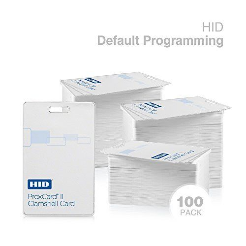 Genuine HID ProxCard II 1326 LMSMV Clamshell Proximity Card for Access Control. Standard 26 bit H10301 Format. (100 Pack, Genuine HID)  100 pack of Genuine HID 1326 LMSMV Clamshell Card  Standard 26 bit format H10301  Pre-programmed with facility code 101, and sequential card range  Card range is printed on exterior of each card  Lifetime Guarantee