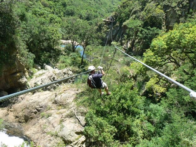 Tsitsikamma Zipline, South Africa, Travelers repeatedly cross South Africa's scenic Kruis River gorge on the Tsitsikamma Zipline, which runs through a nature reserve, features eight ziplines, and passes close to several waterfalls. And you'll actually have time to appreciate the sights, since you can adjust your speed on these well-engineered lines. Go fast, but also remember to go slow. The views are worth lingering over.