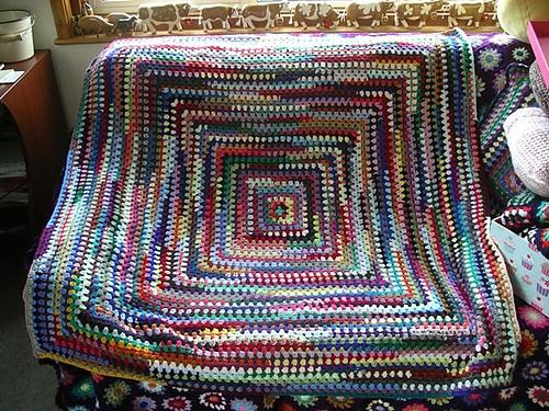 Crochet Afghan Pattern Variegated Yarn : 20 best images about crochet with variegated yarn on ...
