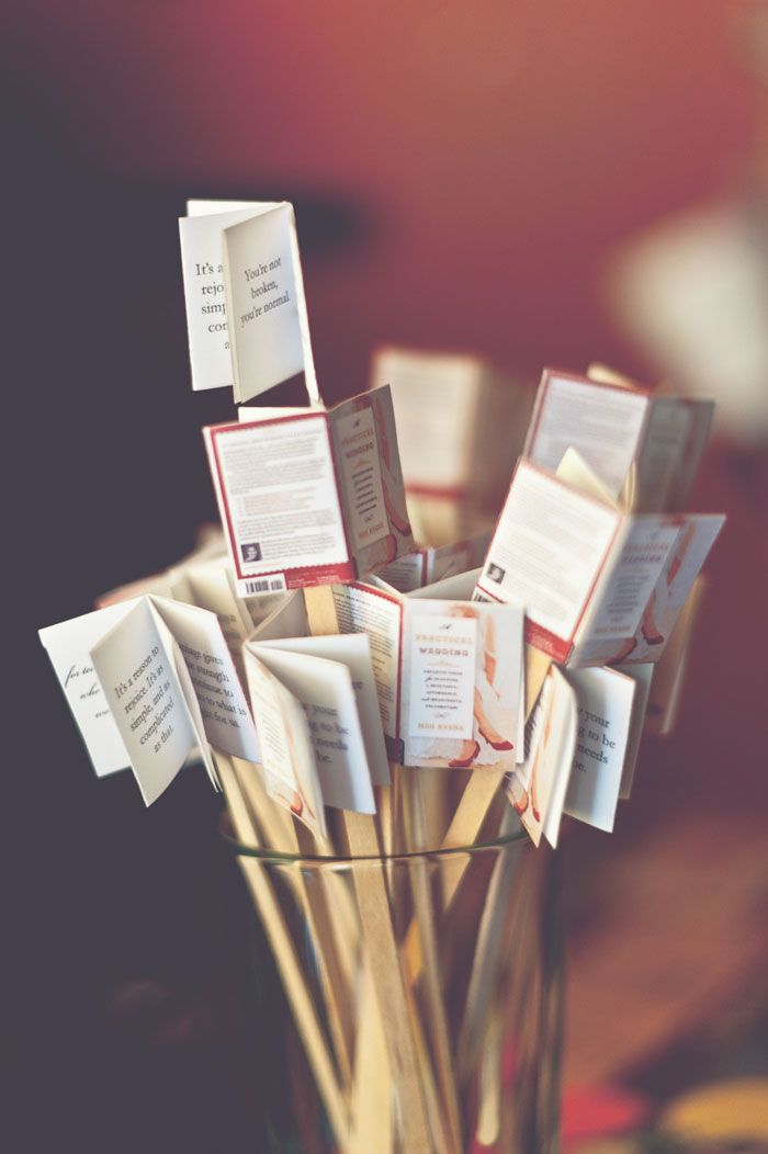 TINY BOOK DRINK STIRRERS, TO LOOK LIKE THE ACTUAL BOOK.