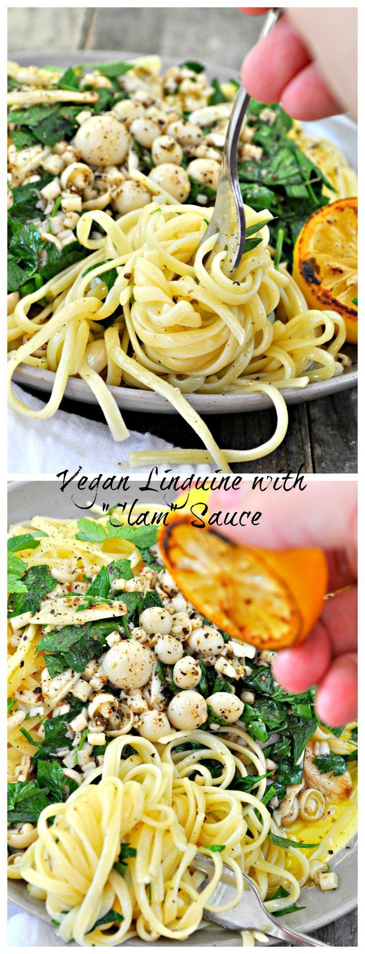 Vegan Linguine with Clam Sauce
