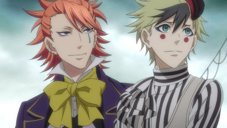Black Butler: Book of Circus. Joker and Dagger. God they are just so cute !