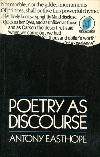 Antony Easthope – Poetry as Discourse