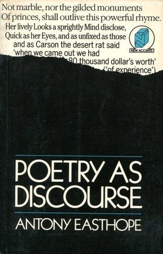 Antony Easthope – Poetry as Discourse