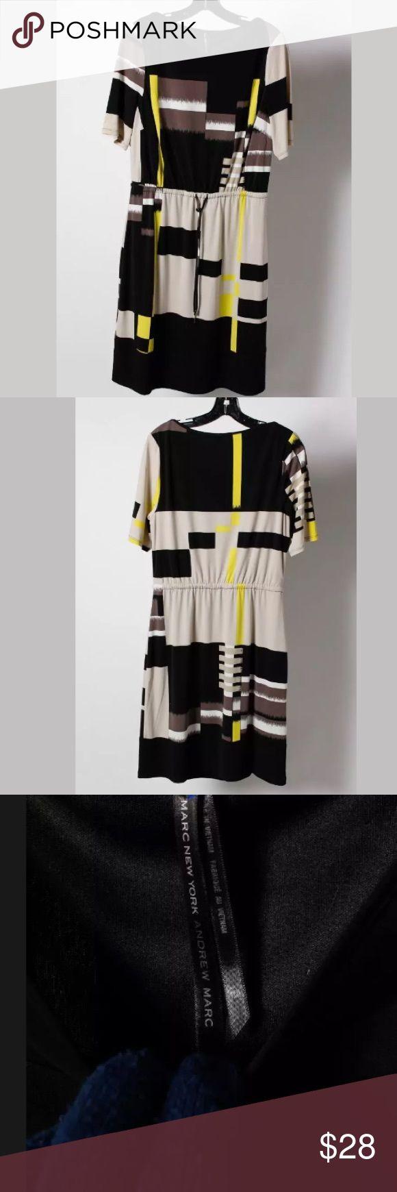 💛Andrew Marc New York drawstring waist dress💛 Great comfy dress for work! Andrew Marc Dresses Midi