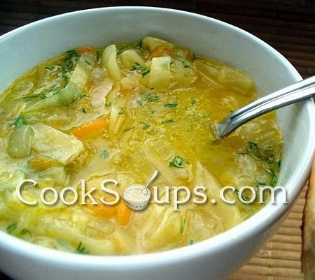 Recipe for Onion Soup with Cabbage